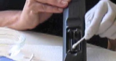 Clean the battery if the battery leaks in the remote